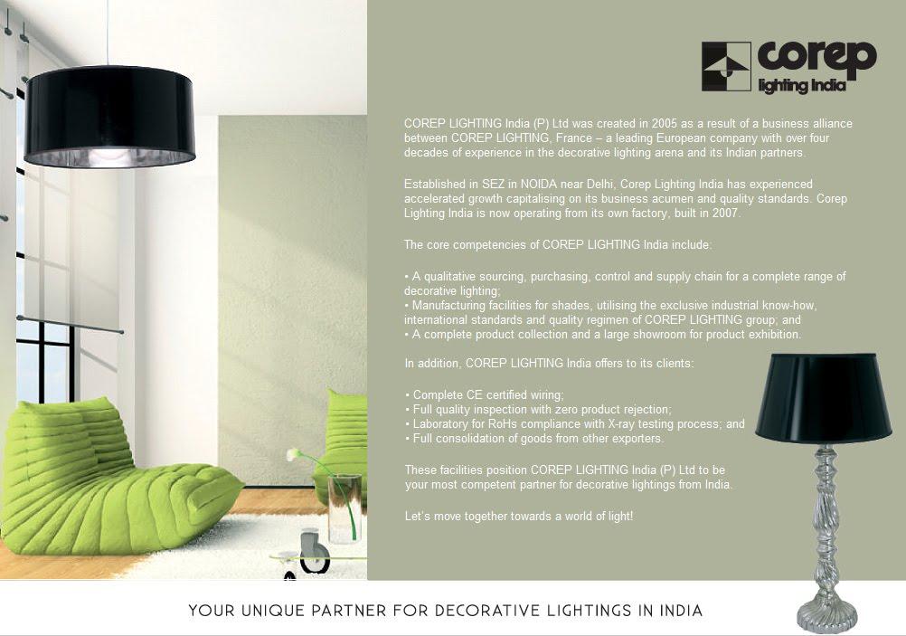 Home Welcome To Corep Lighting India